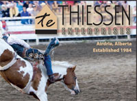 Airdrie Pro Rodeo Ad 2013 for Thiessen Enterprises