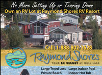 Magazine Ad for Raymond Shores RV